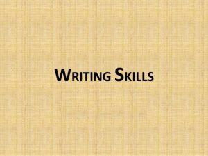 How can I improve my writing skills?