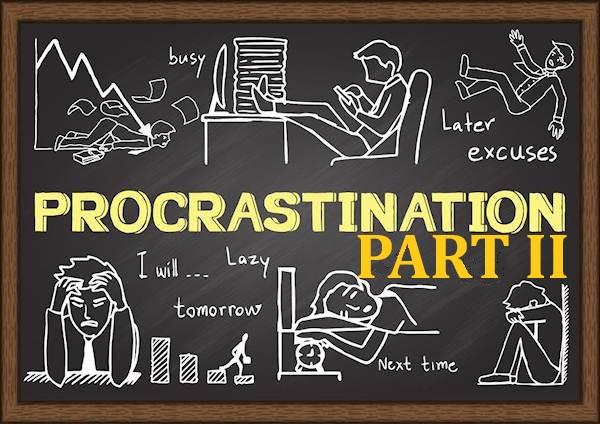 academic writing procrastination part 2