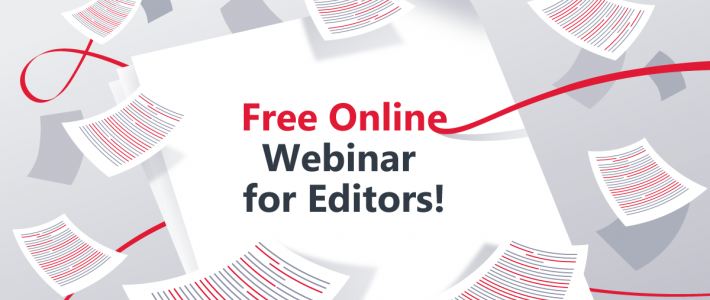 "Jobs For Editors is preparing an online webinar ""Editing 101"""