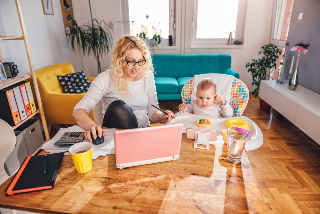 How to work from home with baby